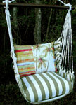 Summer Palms Stripe Hammock Chair Swing Set