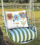 Summer Palms Summer Sunflowers Hammock Chair Swing Set