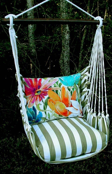 Summer Palms Tropical 1 Hammock Chair Swing Set - Click to enlarge