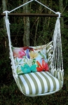 Summer Palms Tropical 2 Hammock Chair Swing Set