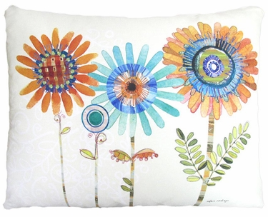 Summer Sunflowers Outdoor Pillow - Click to enlarge