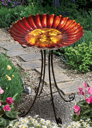 Sun Bird Bath w/Stand - Click to enlarge
