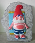 Sunbathing Gnome Stepping Stone