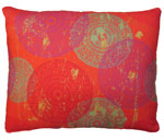 Sunburst Circles Outdoor Pillow