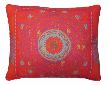 Sunburst Shield Outdoor Pillow - Click to enlarge