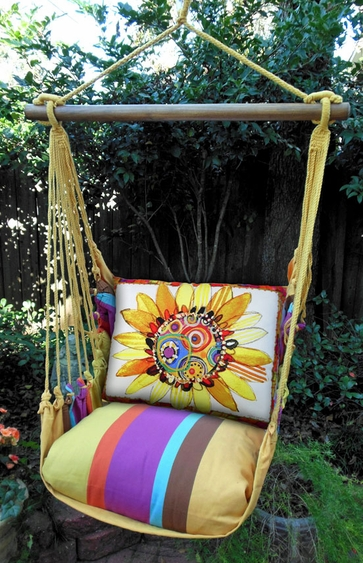 Sunflower Dreams Hammock Chair Swing Set - Click to enlarge