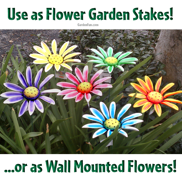 Sunflower Garden Stakes Wall Flower Decor 6Pack only 4999