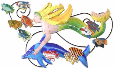 Swimming Mermaid Wall Art - Click to enlarge