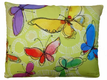 Swirly Butterflies Outdoor Pillow - Click to enlarge