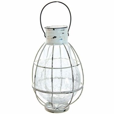 Tabletop Solar Lantern with 6 LED String Light - White - Click to enlarge