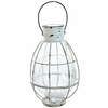 Tabletop Solar Lantern with 6 LED String Light - White