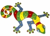 Multi-Colored Striped Gecko Wall Decor