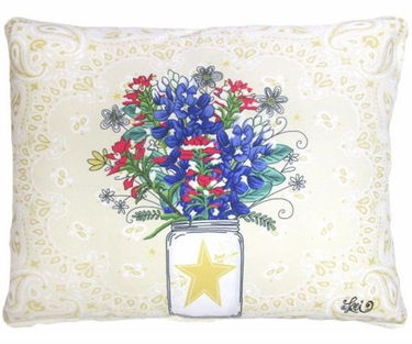 Texas Bluebonnets Outdoor Pillow - Click to enlarge