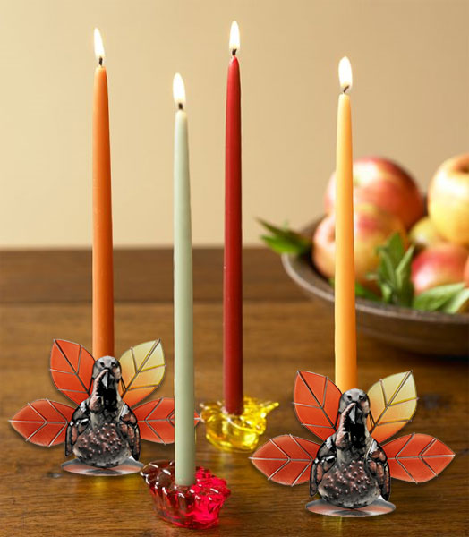 Thanksgiving Turkey Candle Holders (Set of 2) only $19.99 at Garden Fun