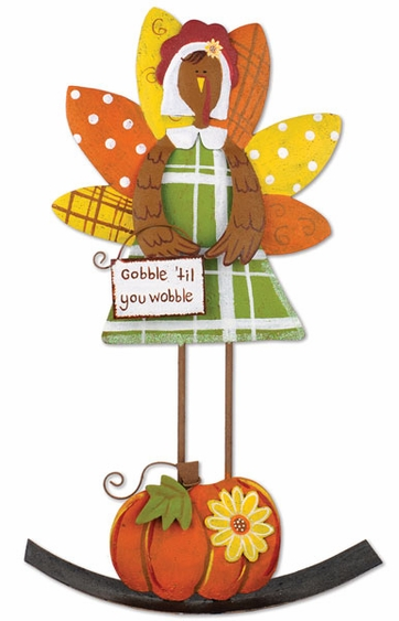 Thanksgiving Turkey Rocker - Click to enlarge