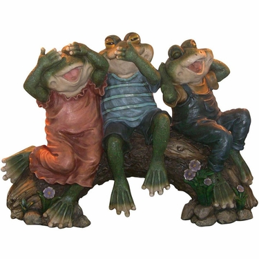 Three Wise Frogs Statuary - Click to enlarge