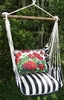 True Black Geranium Hammock Chair Swing Set