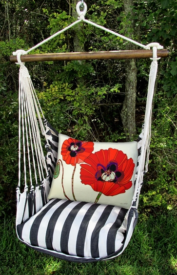 True Black Poppy Love Hammock Chair Swing Set - Click to enlarge