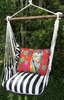 True Black Red Owl Hammock Chair Swing Set