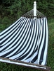 Ticking Black Sundure Fabric Hammock