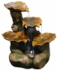 Tiered Leaves Outdoor Fountain w/LED Lights