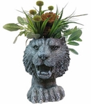 Tiger Mascot Planter - Graystone Finish