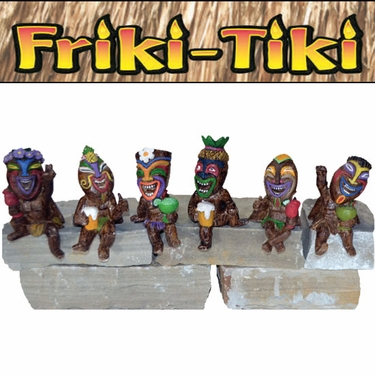Small Tiki Party Shelf Sitters (Set of 6) - Click to enlarge