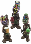 "11"" Tiki Garden Statues (Set of 3)"