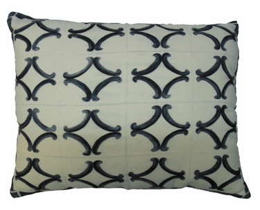 Tile Black 3 Outdoor Pillow - Click to enlarge