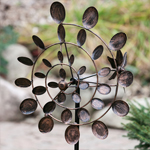 Tri-Motion Conical Garden Pinwheel