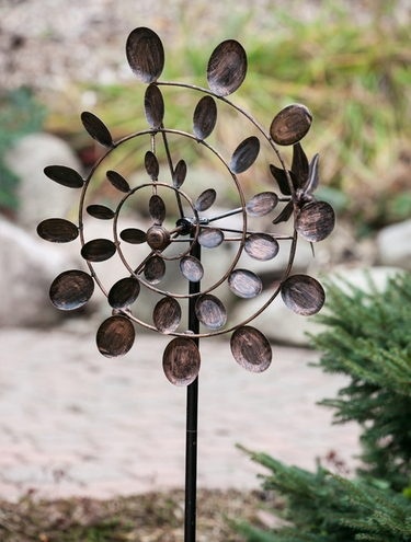 Tri-Motion Conical Garden Pinwheel - Click to enlarge