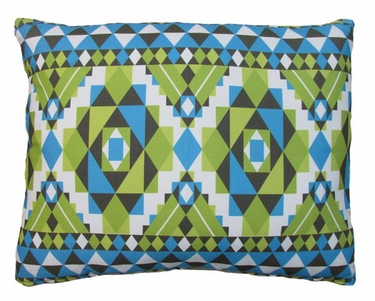 Tribal Blue Outdoor Pillow - Click to enlarge