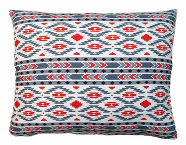 Tribal Gray Outdoor Pillow - Click to enlarge