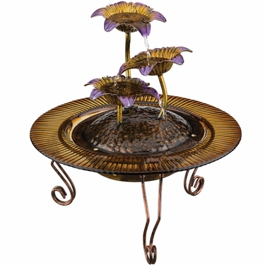 Triple Flower Tabletop Fountain - Click to enlarge