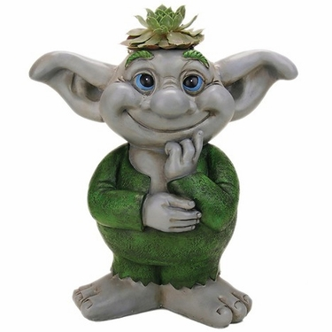 Troll Boy Mini Planter - Click to enlarge