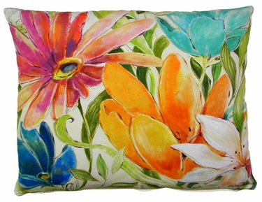 Tropical A Outdoor Pillow - Click to enlarge