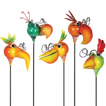 Tropical NerdyNeck Garden Stakes (Set of 3) - Click to enlarge