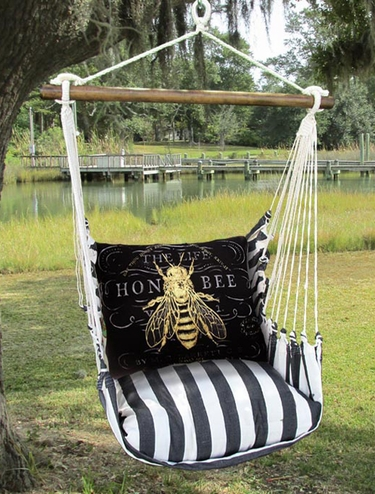 True Black Honey Bee Hammock Chair Swing Set - Click to enlarge