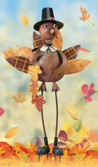 Turkey Boy Garden Decor - Click to enlarge