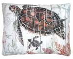 Turtle with Baby Outdoor Pillow