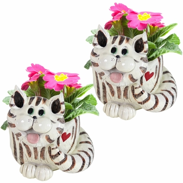 Twin Cat Planters (Set of 2) - Click to enlarge