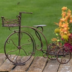 Two Basket Tricycle Plant Stand - Antique Bronze