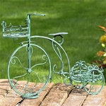 Two Basket Tricycle Plant Stand - Antique Green