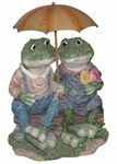 Two Frogs w/ Umbrella