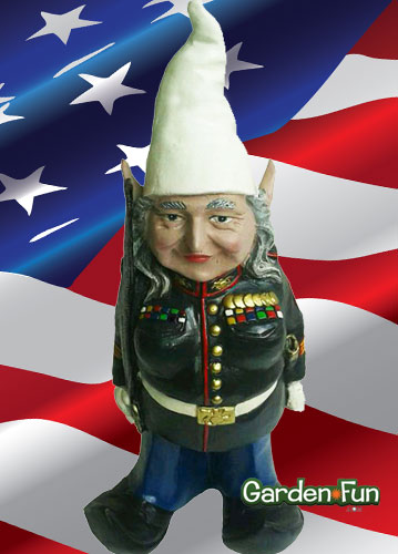 Military gnome female only at garden fun for Combat gnomes for sale
