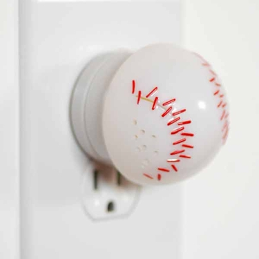 Ultrasonic Pest Repeller - LED Baseball - Click to enlarge