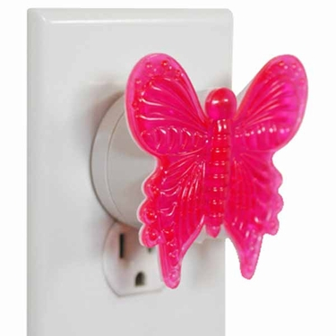 Ultrasonic Pest Repeller - LED Butterfly (Set of 2) - Click to enlarge