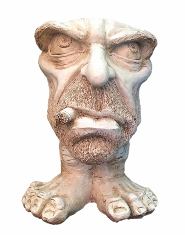 Uncle Carmine Face Planter - Antique Finish - Click to enlarge