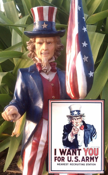 Uncle Sam Garden Statue - Click to enlarge