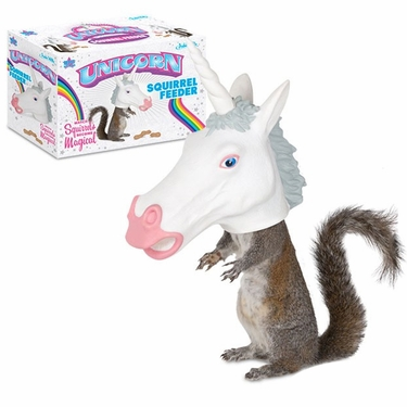 Unicorn Squirrel Feeder - Click to enlarge